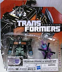 HASBRO TRANSFORMERS GENERATIONS LEGENDS CLASS NEMESIS PRIME & SPINISTER
