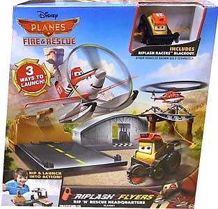 MATTEL PLANES 2 FIRE & RESCUE PLAYSET RIPLASH FLYERS RIP 'N' RESCUE HEADQUARTERS