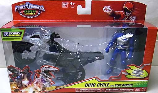 USA BANDAI POWER RANGERS DINO CHARGE DINO CYCLE AND BLUE RANGER