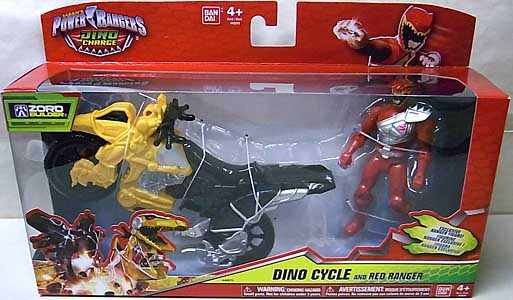 USA BANDAI POWER RANGERS DINO CHARGE DINO CYCLE AND RED RANGER