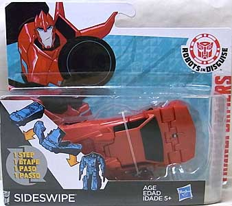 HASBRO アニメ版 TRANSFORMERS ROBOTS IN DISGUISE ONE STEP CHANGER SIDESWIPE