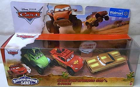 MATTEL CARS 2014 THE RADIATOR SPRINGS 500 1/2 3PACK パッケージ傷み特価