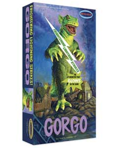 モナーク 怪獣ゴルゴ グロー・イン・ザ・ダーク 蓄光バージョン 組み立て式プラモデル パッケージ傷み特価