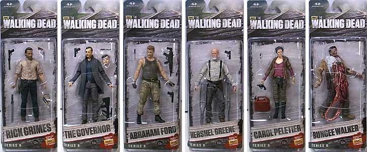 McFARLANE TOYS THE WALKING DEAD TV 4.5インチアクションフィギュア SERIES 6 6種セット