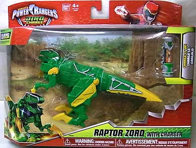 USA BANDAI POWER RANGERS DINO CHARGE RAPTOR ZORD WITH CHARGER