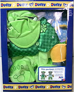 DISNEY USAディズニーテーマパーク限定 DUFFY THE DISNEY BEAR COSTUME ST. PATRICK DAY & EASTER REVERSIBLE COSTUME BOX SET