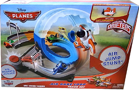 MATTEL PLANES MICRO DRIFTERS PLAYSET AIR DARE LOOP TRACK SET