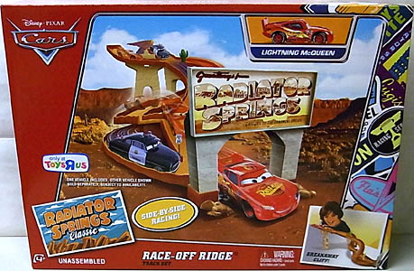 MATTEL CARS USA TOYSRUS限定 RADIATOR SPRINGS CLASSIC PLAYSET RACE-OFF RIDGE TRACK SET