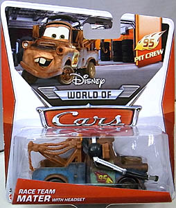 MATTEL CARS 2014 シングル RACE TEAM MATER WITH HEADSET
