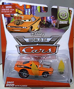 MATTEL CARS 2014 シングル SNOT ROD WITH FLAMES 台紙傷み特価
