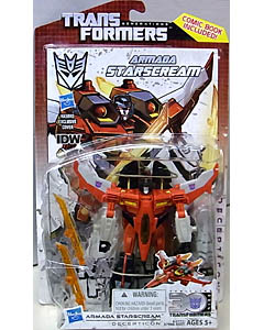HASBRO TRANSFORMERS GENERATIONS DELUXE CLASS ARMADA STARSCREAM [COMIC BOOK INCLUDED]