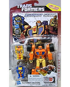 HASBRO TRANSFORMERS GENERATIONS DELUXE CLASS AUTOBOT SCOOP [COMIC BOOK INCLUDED]