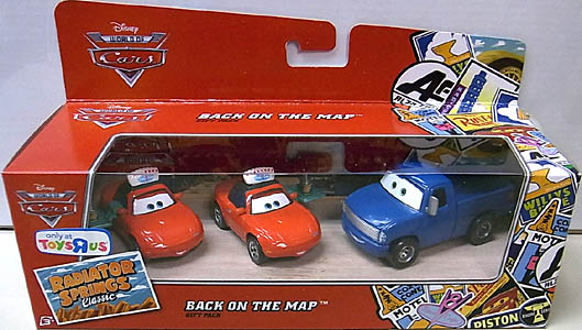 MATTEL CARS USA TOYSRUS限定 RADIATOR SPRINGS CLASSIC 3PACK BACK ON THE MAP
