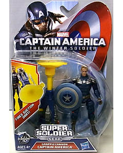 HASBRO 映画版 CAPTAIN AMERICA: THE WINTER SOLDIER 3.75インチ SUPER SOLDIER GEAR GRAPPLE CANNON CAPTAIN AMERICA