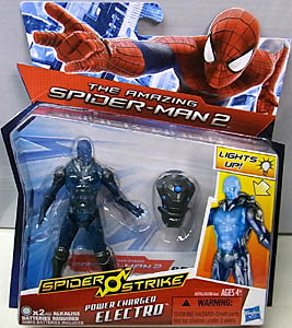 HASBRO 映画版 THE AMAZING SPIDER-MAN 2 3.75インチ POWER CHARGED ELECTRO