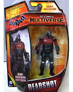 MATTEL DC COMICS MULTIVERSE 4インチアクションフィギュア BATMAN: ARKHAM ORIGINS DEADSHOT 台紙傷み特価