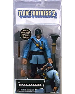 NECA PLAYER SELECT TEAM FORTRESS 2 DX 7インチアクションフィギュア THE SOLDIER [TEAM BLU]