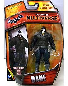 MATTEL DC COMICS MULTIVERSE 4インチアクションフィギュア BATMAN: ARKHAM ORIGINS BANE 台紙傷み特価