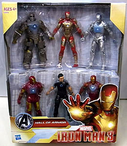 HASBRO 映画版 IRON MAN 3 3.75インチ HALL OF ARMOR 6PACK