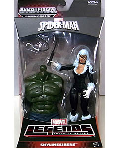 HASBRO MARVEL LEGENDS 2014 INFINITE SERIES SPIDER-MAN SKYLINE SIRENS BLACK CAT パッケージ傷み特価