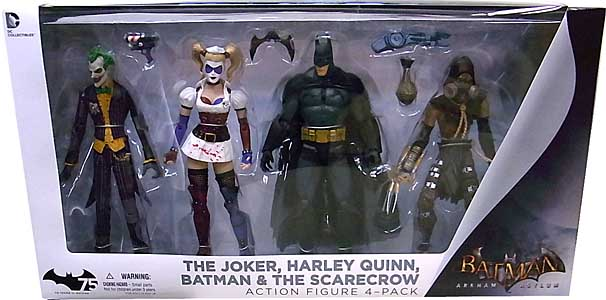 DC COLLECTIBLES BATMAN: ARKHAM ASYLUM ACTION FIGURE 4-PACK [THE JOKER、HARLEY QUINN、BATMAN、THE SCARECROW]