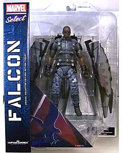 DIAMOND SELECT MARVEL SELECT 映画版 CAPTAIN AMERICA: THE WINTER SOLDIER FALCON パッケージ傷み特価