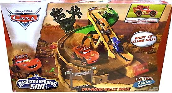 MATTEL CARS 2014 THE RADIATOR SPRINGS 500 1/2 プレイセット OFF-ROAD RALLY RACE