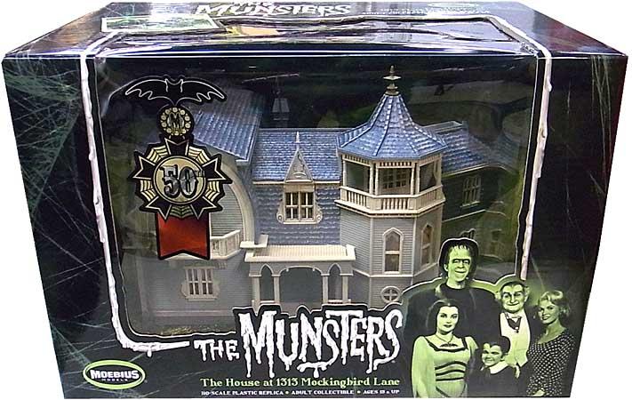 メビウスモデル 1/87スケール マンスターズ ハウス 塗装、組み立て済み完成品