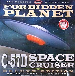 POLAR LIGHTS 1/144スケール FORBIDDEN PLANET C-57D SPACE CRUISER 組み立て式プラモデル [デラックスエディション]