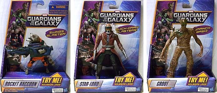 HASBRO 映画版 GUARDIANS OF THE GALAXY 5インチ ギミックヒーローズ 3種セット [国内版]