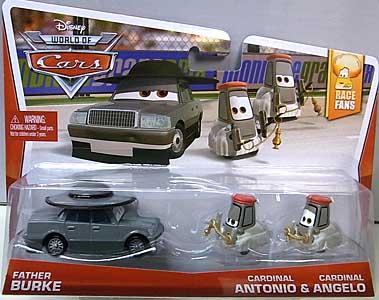 MATTEL CARS 2014 2PACK FATHER BURKE & CARDINAL ANTONIO & CARDINAL ANGELO ブリスター傷み特価