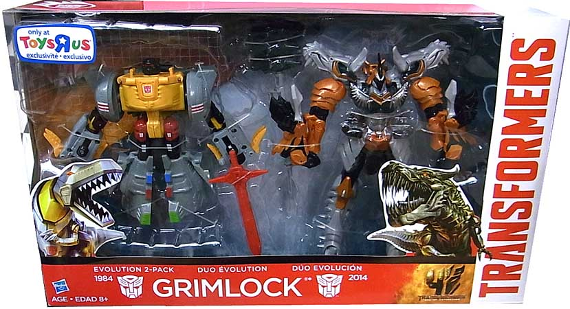 HASBRO 映画版 TRANSFORMERS: AGE OF EXTINCTON USA TOYSRUS限定 VOYAGER CLASS EVOLUTION 2PACK GRIMLOCK