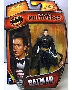 MATTEL DC COMICS MULTIVERSE 4インチアクションフィギュア BATMAN 1989 BATMAN [MICHAEL KEATON] [UNMASKED VARIANT]