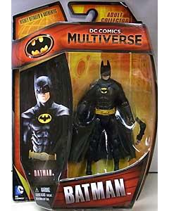 MATTEL DC COMICS MULTIVERSE 4インチアクションフィギュア BATMAN 1989 BATMAN [MICHAEL KEATON] 台紙破れ特価