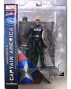 DIAMOND SELECT MARVEL SELECT USAディズニーストア限定 映画版 CAPTAIN AMERICA: THE WINTER SOLDIER CAPTAIN AMERICA [UNMASKED]
