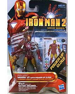 HASBRO 映画版 IRON MAN 2 3.75インチ MOVIE SERIES IRON MAN MARK VI WITH POWER-UP GLOW 台紙傷み特価