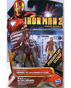 HASBRO 映画版 IRON MAN 2 3.75インチ MOVIE SERIES IRON MAN MARK VI WITH POWER-UP GLOW 台紙傷み特価
