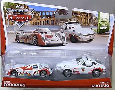 MATTEL CARS 2014 2PACK SHU TODOROKI & MACH MATSUO