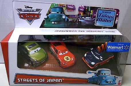 MATTEL CARS 2014 TOKYO MATER 3PACK STREETS OF JAPAN
