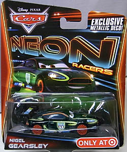 MATTEL CARS 2014 NEON RACERS シングル NIGEL GEARSLEY