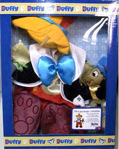 DISNEY USAディズニーテーマパーク限定 DUFFY THE DISNEY BEAR COSTUME PINOCCHIO WITH JIMINY CRICKET BOX SET