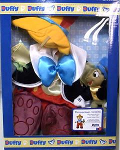 DISNEY USAディズニーテーマパーク限定 DUFFY THE DISNEY BEAR COSTUME PINOCCHIO WITH JIMINY CRICKET BOX SET