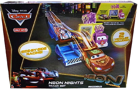 MATTEL CARS 2014 NEON RACERS NEON NIGHTS TRACK SET
