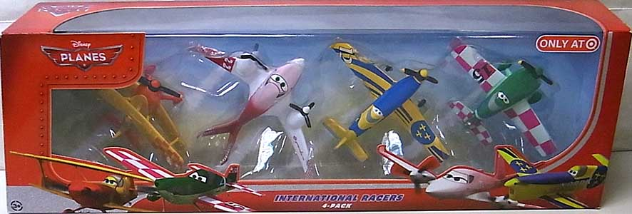 MATTEL PLANES INTERNATIONAL RACERS 4-PACK