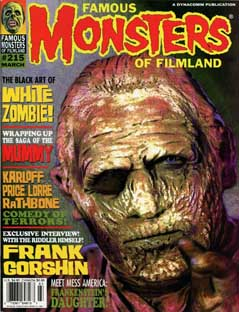 FAMOUS MONSTERS OF FILMLAND #215