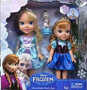 JAKKS PACIFIC DISNEY FROZEN DELUXE TODDLER ELSA & ANNA
