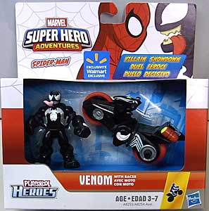 HASBRO PLAYSKOOL HEROES MARVEL SUPER HERO ADVENTURES SPIDER-MAN VENOM WITH RACER