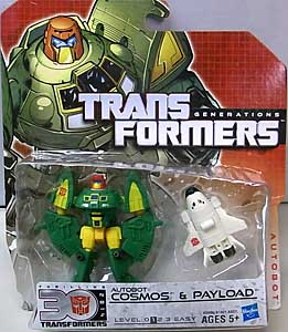 HASBRO TRANSFORMERS GENERATIONS LEGENDS CLASS AUTOBOT COSMOS & PAYLOAD