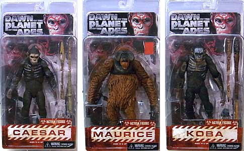 NECA DAWN OF THE PLANET OF THE APES 7インチアクションフィギュア シリーズ1 3種セット