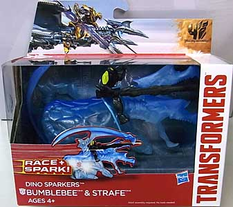 HASBRO 映画版 TRANSFORMERS: AGE OF EXTINCTON DINO SPARKERS BUMBLEBEE & STRAFE
